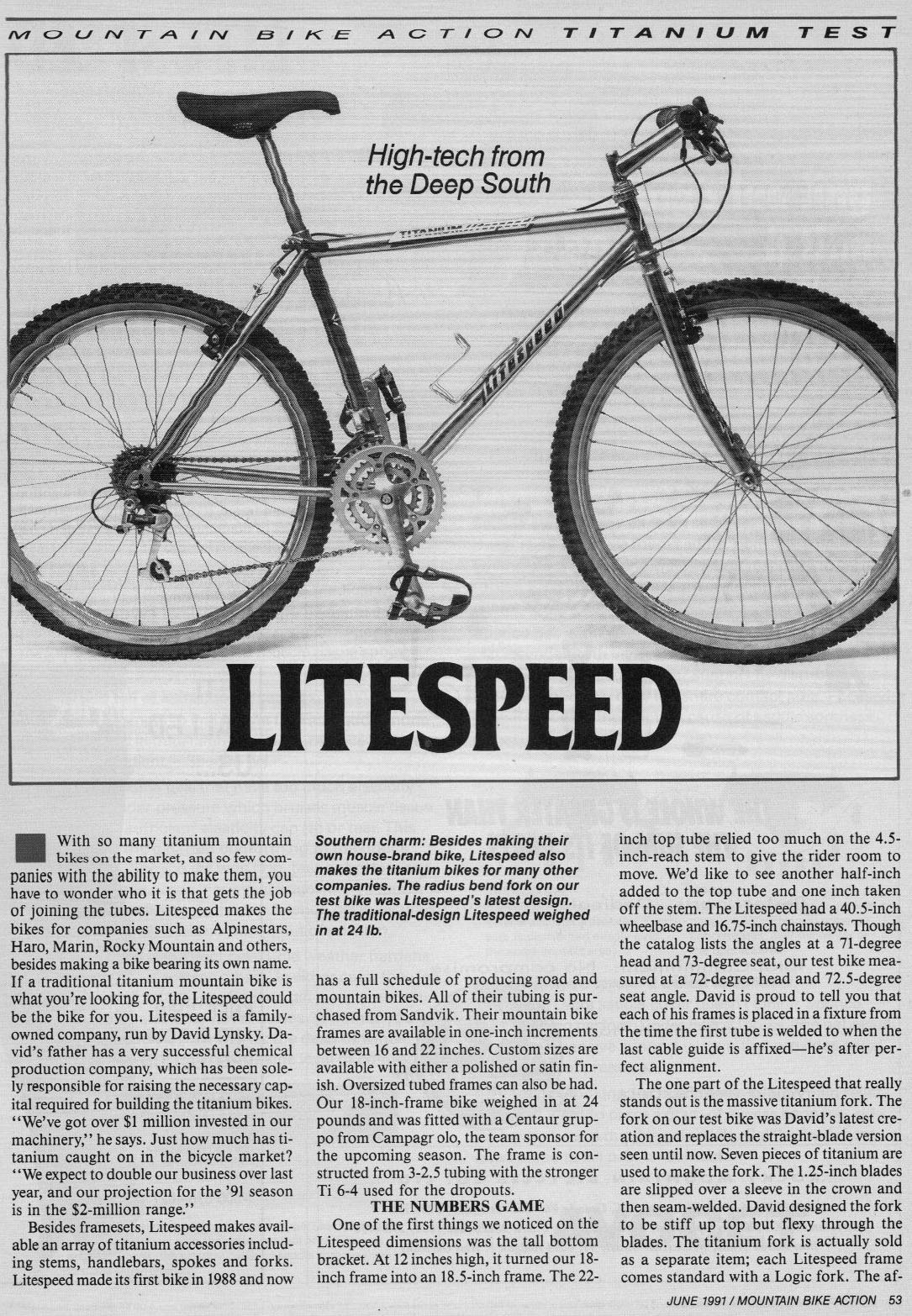 MOMBAT: Litespeed Bicycles History