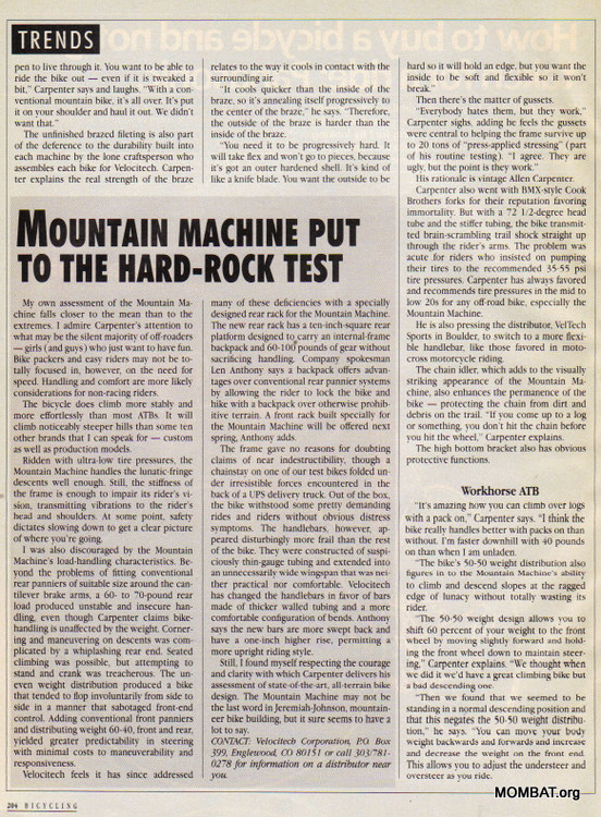 Mountain Machine 1985