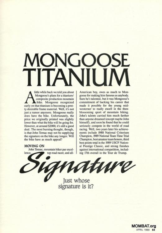 Mongoose 1988