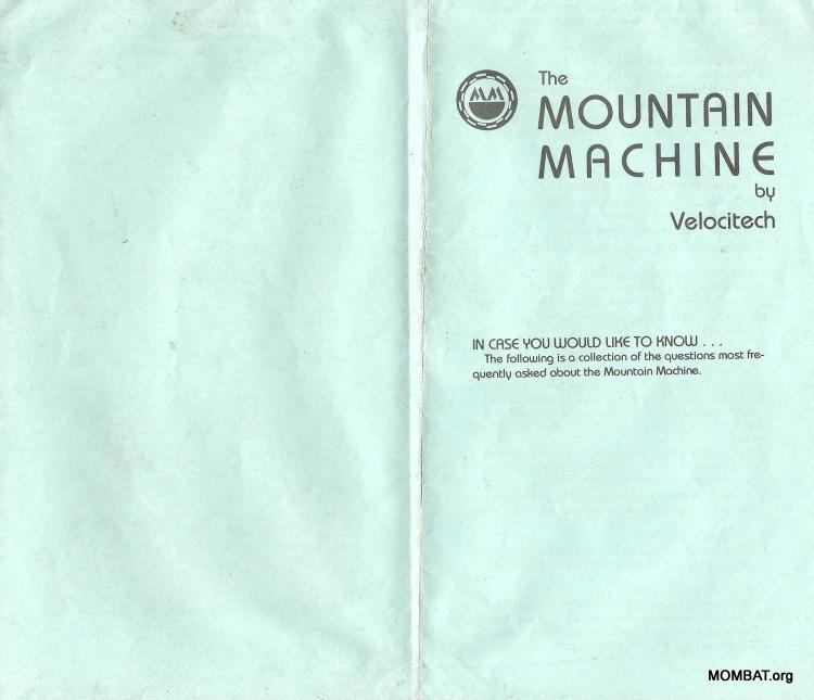 Mountain Machine FAQ
